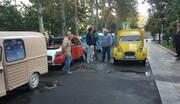 جهانگردان تور خودروهای کلاسیک سیتروئن به هتل لاله رسیدند
