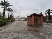 ساخت سردری عجیب در میدان شهرداری رشت | شهرداری رشت به منظر تاریخیترین نقطه رشت هم رحم نکرد