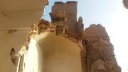 سقف اتاقهای خانه تاریخی مقدم در کاشان برای سومین بار فرو ریخت