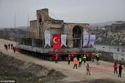 مسجد ۶۰۹ ساله حصن کیف در ترکیه جابجا شد