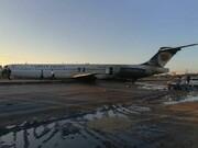 فرود اضراری هواپیمای کاسپین  وسط جاده