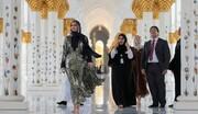 بازدید ایوانکا ترامپ از مسجد شیخ زاید ابوظبی و موزه لوور دبی + تصاویر