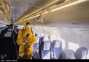 توزیع ژل ضد عفونی کننده و ماسک در فرودگاه کیش برای جلوگیری از گسترش کرونا