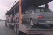 فیلم | ترفند کرونایی برای سفر؛ ماشین را با تریلی میفرستند