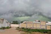 فیلم لحظه ورود ابرهای سبزرنگ به استان فارس /  تورنادو در شیراز در کار نیست