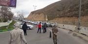 ترافیک سنگین در جاده لواسان با حضور گردشگران غیربومی