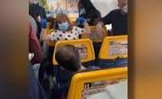 فیلم | عدم رعایت فاصله اجتماعی در پرواز هواپیمای مسافری و نگرانی مسافران از کرونا