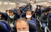 بازداشت مسافرانی که در هواپیمای شرکت دلتا ماسک نزدند