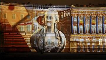 به مناسبت ۲۵۶ سالگی موزه هرمیتاژ؛ نورپردازی سه بعدی بزرگترین مجموعه نقاشی های جهان در سنپترزبورگ
